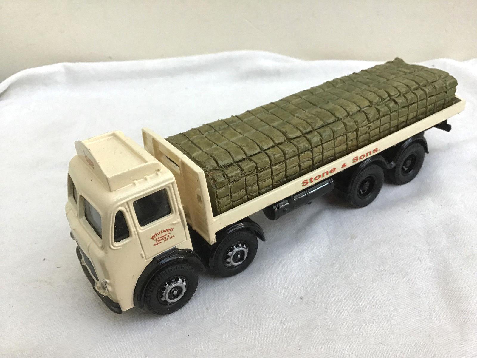 Código Código Código 3 Camión De Corgi 1 50 Leyland plana con piedra de carga hijos 9c13e3