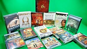 PC Game Lot of 18 Great Titles! Myst, Fallout, Tomb Raider and More! PLEASE READ