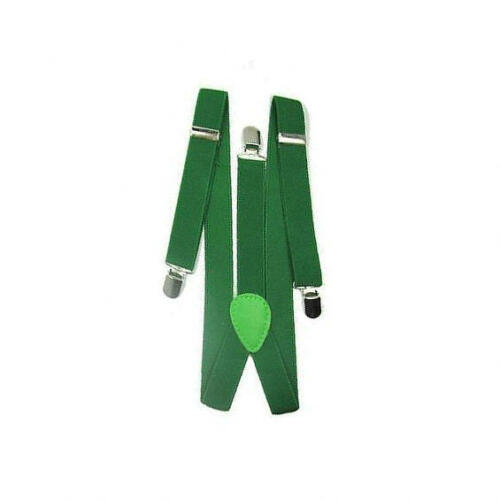 Green Mens Ladies BRACES ELASTIC WIDE Durable Trouser 25mm 35mm 50mm Strong