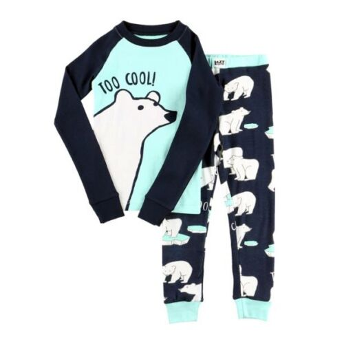 LazyOne Unisex Too Cool Kids PJ Set Long Sleeves