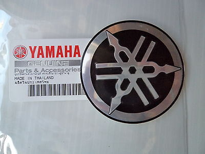 Yamaha Retro Cafe Racer Tank Emblem Metal Decal 55mm BLACK *GENUINE YAMAHA*