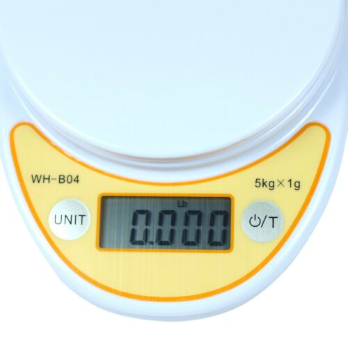 WH-B04 11 lbs x 1g Digital Kitchen Scale Diet Food Scale with Weighing Bowl