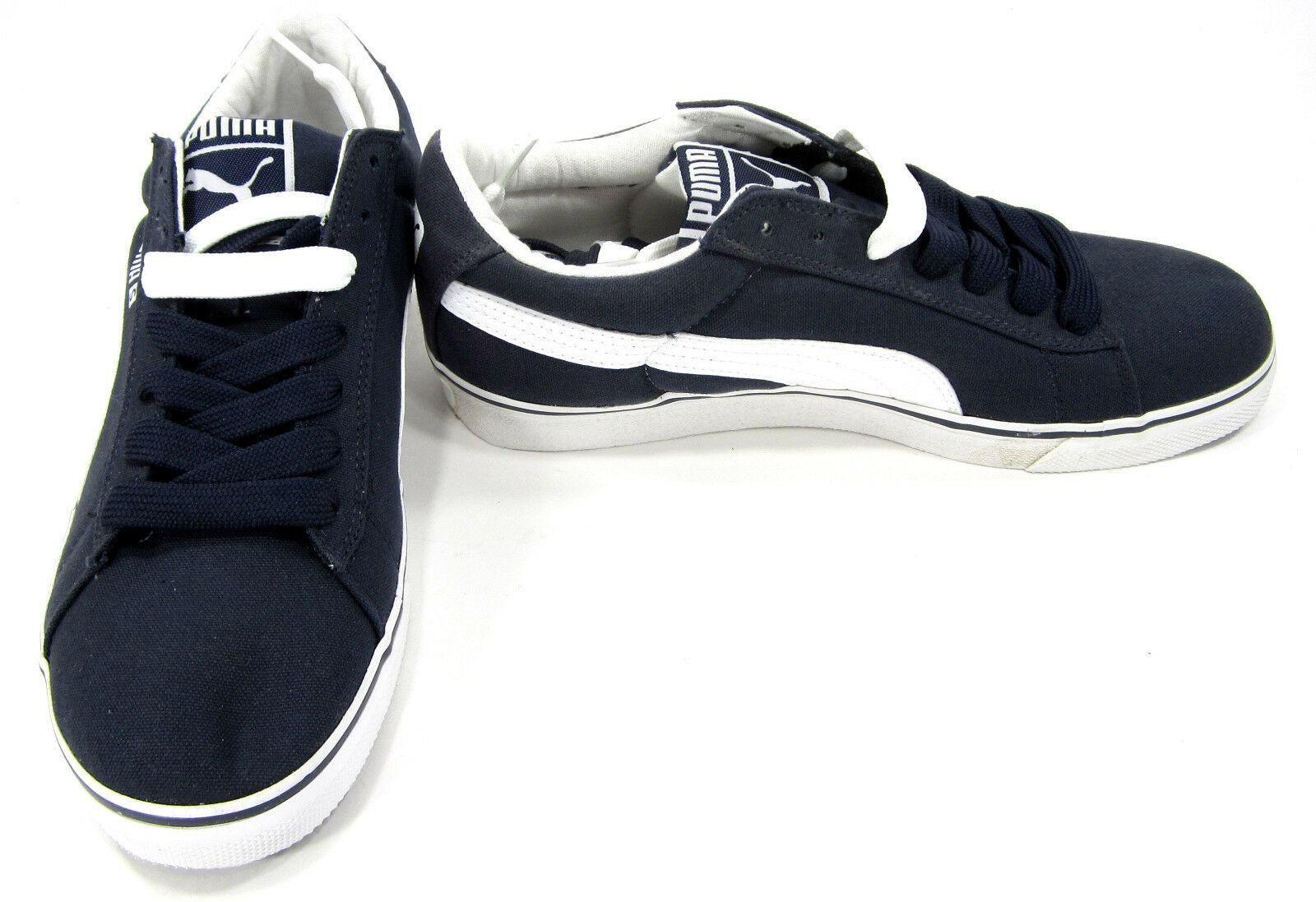 Puma Shoes S Vulcanized Canvas Navy Blue Sneakers Comfortable