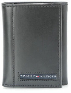 26618ebc2 Tommy Hilfiger Men's Premium Leather Credit Card Id Wallet Trifold ...
