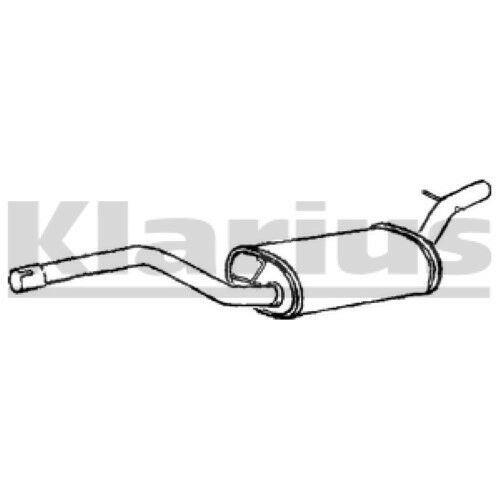 PEUGEOT 1x KLARIUS OE Quality Replacement Middle Silencer Exhaust For CITROËN