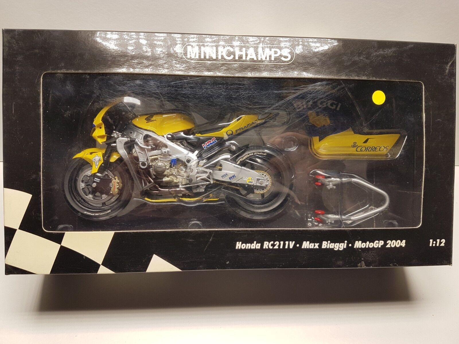 Honda RC211V Max Biaggi Moto GP 2004 1 12 Minichamps 122041003