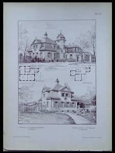 MUNICH-MAISON-1902-PLANCHE-ARCHITECTURE-CARL-HOCHEDER