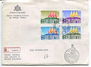 Analytique 1977 Fdc San Marino Manifestazioni Filateliche '77 Raccomandata First Day Cover Marchandises De Proximité