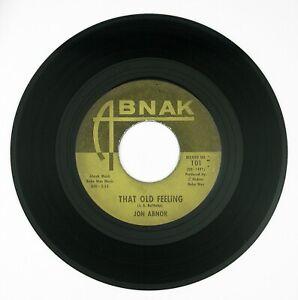 JON-ABNOR-That-Old-Feeling-Wishing-For-You-7IN-1963-POP-ROCK-VG