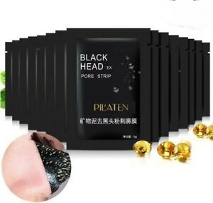 40x 6g pilaten black head killer peel off schwarze maske. Black Bedroom Furniture Sets. Home Design Ideas