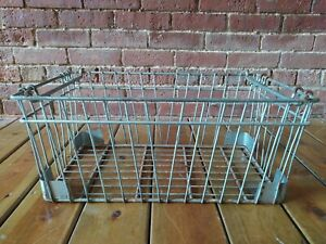 Xtra-Large-Industrial-Metal-Wire-Milk-Bottle-Crate-w-Handles-Basket-Farm-Barn