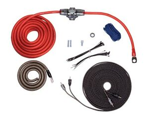rockford fosgate 4 awg complete amplifier wire install kit 4g amp wiring