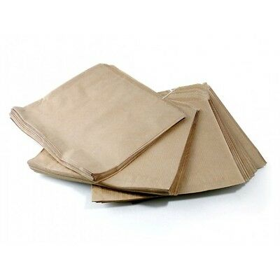 100 Brown Kraft Paper Bags 7 x 7 Strung Food Quality