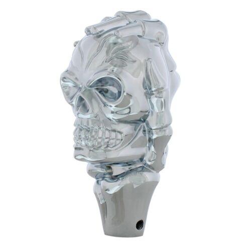 Universal Chrome Skull Shift Knob Hot Rat Street Rod Muscle