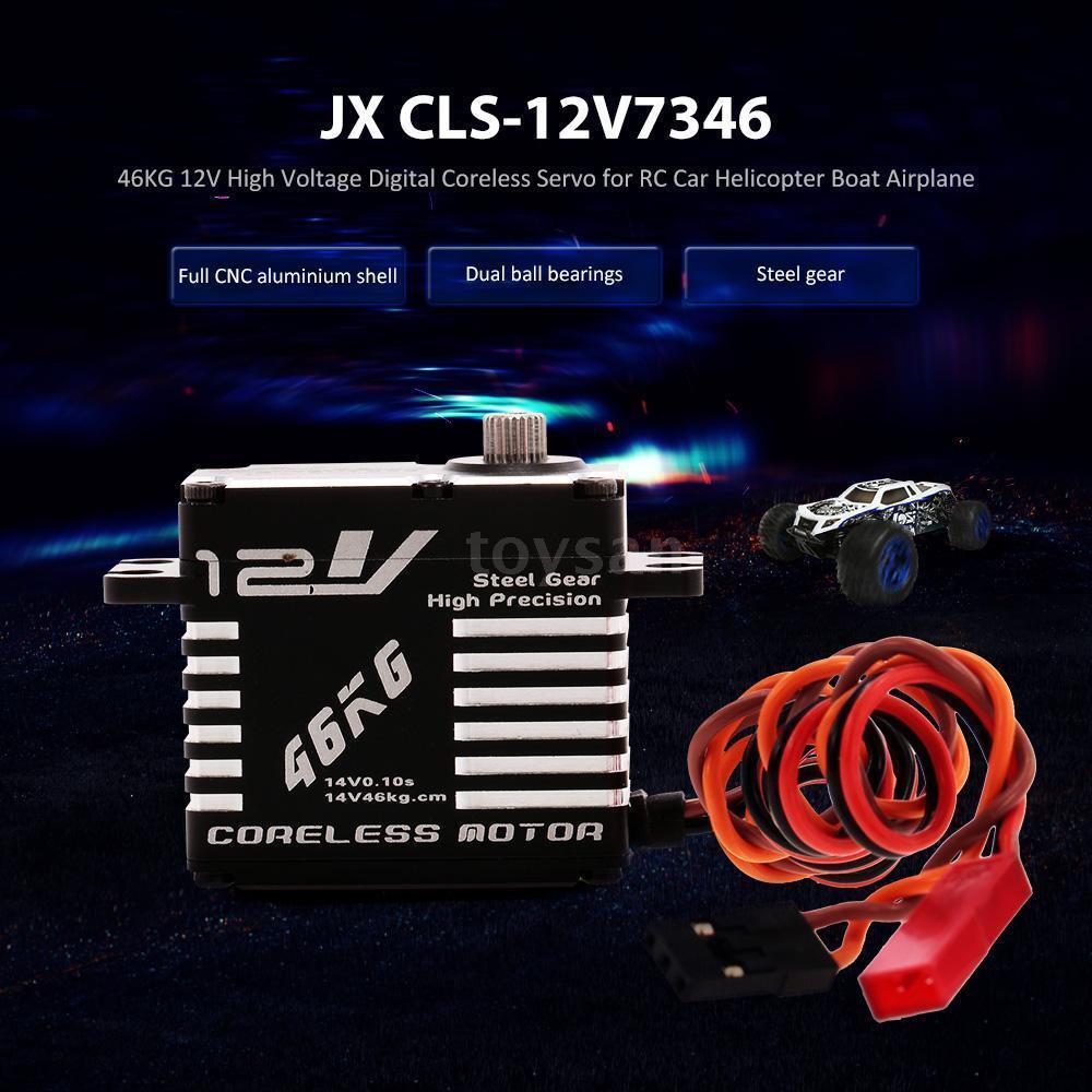 JX cls-12v7346 46kg 12v aluminio digital coreless servo for RC Coche v6l5