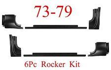 73 79 Ford 6Pc Rocker & Door Post Kit, Regular Cab Super Cab Truck, 78 79 Bronco