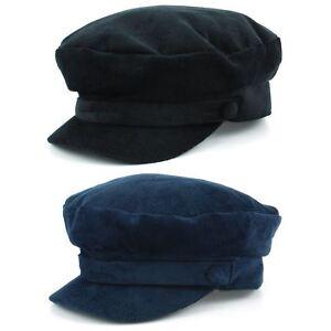 35a0ee3676c Captain s Cap Breton Hat Cord BLACK NAVY BLUE Mariner Lennon ...