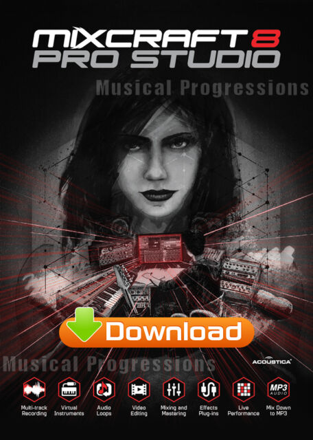 MIXCRAFT 8 PRO STUDIO - AUDIO MUSIC SOFTWARE - WINDOWS - DIGITAL NEW -  ACOUSTICA