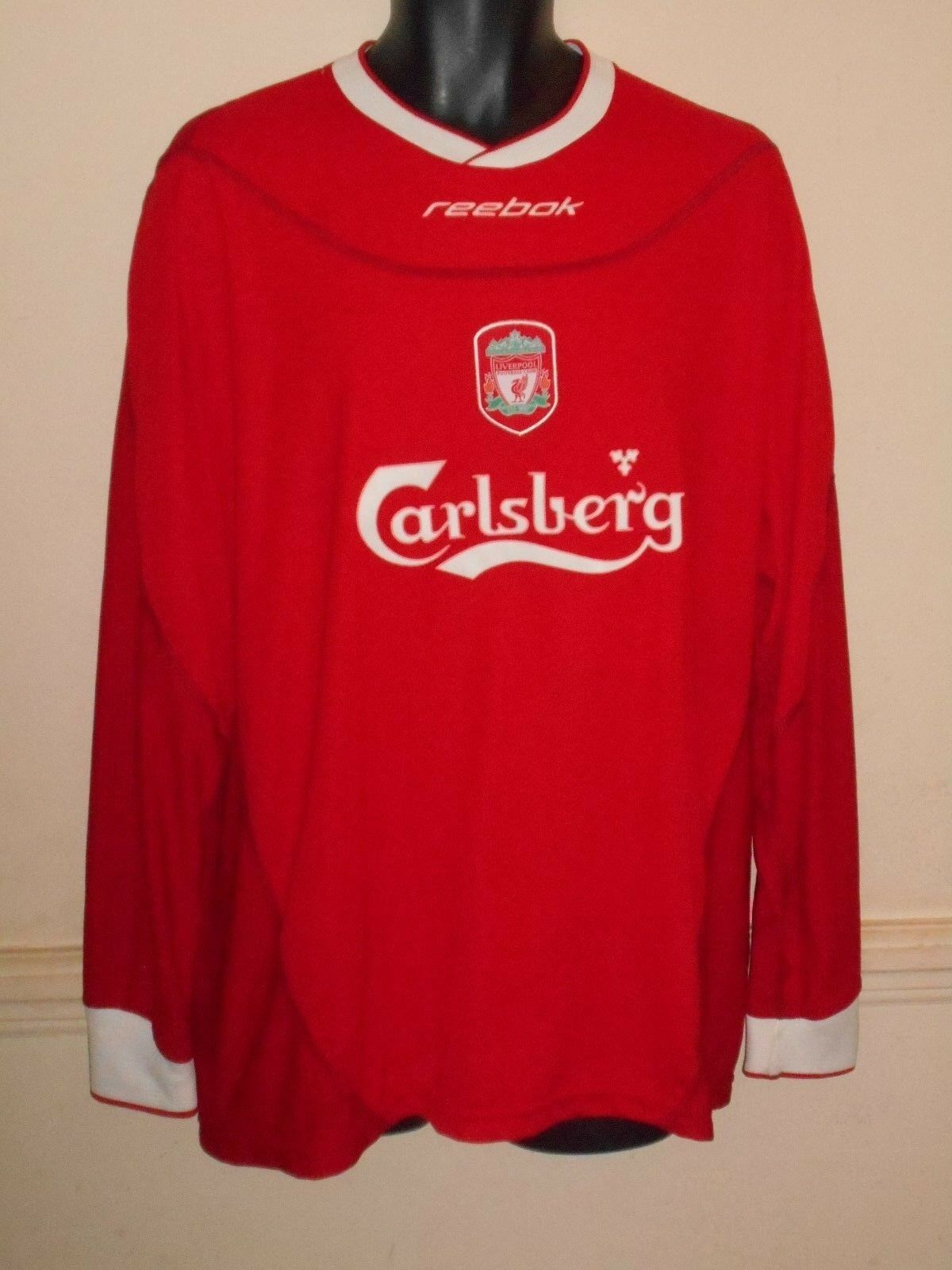 Liverpool Home Camicia 20022004 maniche lunghe nuovo senza etichetta Grandi Da Uomo  1169