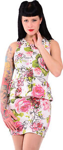 Kleid Pin Creepy Dress Up Rose Fist Iron 50s Rockabilly w0TUq6z