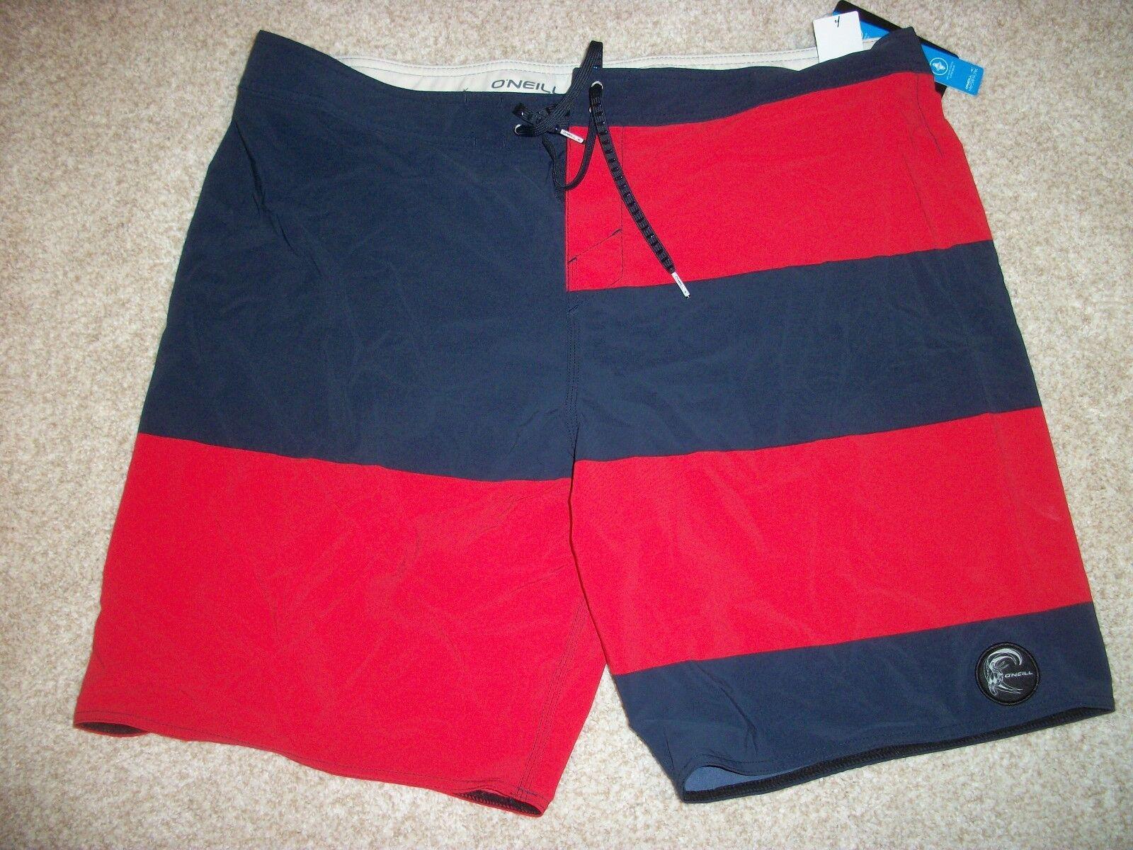 O'NEILL New NWT Mens 40 BOARD SWIM SHORTS Boardshorts bluee Red Hyperfreak