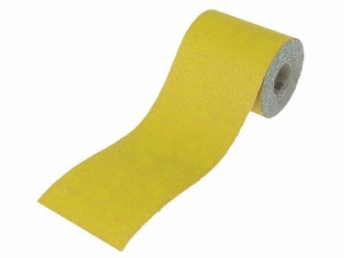 Faithfull 115mm x 10m 120g Aluminium Oxide Paper Roll Yellow