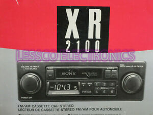 New-SONY-XR2100-Classic-Car-Stereo-2-Shaft-2-Knob-Old-SChool-AM-FM-Cass-Radio