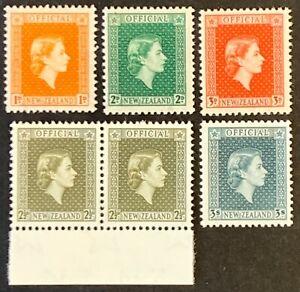 New-Zealand-Official-Definitives-Stamps-SG-O159-1954-MNH-AF94
