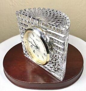 Mikasa-Austria-Sutton-Place-Crystal-Clock-Desk-Mantel-Ribbed-Moon-Quartz-4-25