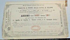 AZIONE-PRESTITO-A-PREMII-DELLA-CITTA-039-DI-MILANO-NAPOLI-GENNAIO-1864
