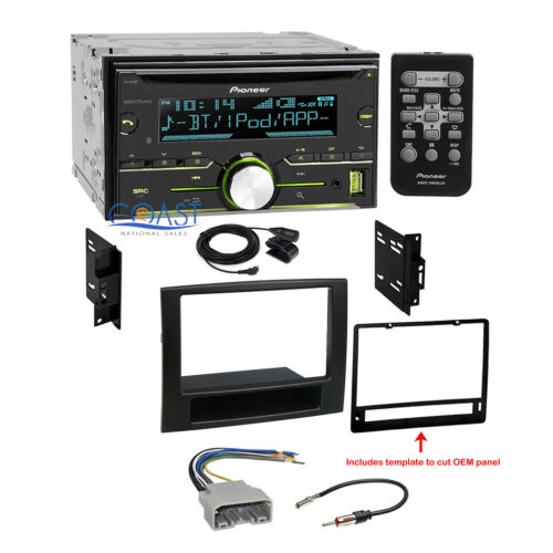 Pioneer CD USB Bluetooth Car Stereo Dash Kit Wire Harness for 2006-08 Dodge Ram