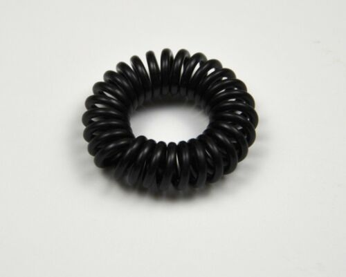 35 Spiral Plastic Hair Bands Girl Ponytail Stretchy Elastic Coil Bobble Wire UK