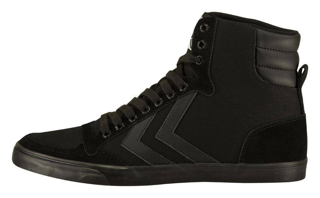 Hummel Slimmer Stadil High Canvas Tonal Sneaker schwarz NEU 80094