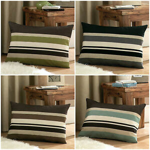 Harvard-CUSHION-COVER-16x24-034-40x60cm-Horizontal-Stripes