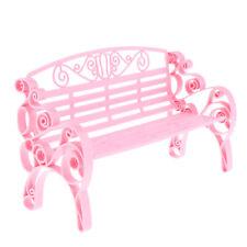 1//24 Dollhouse Miniature Garden Patio Furniture Park Bench A8P9