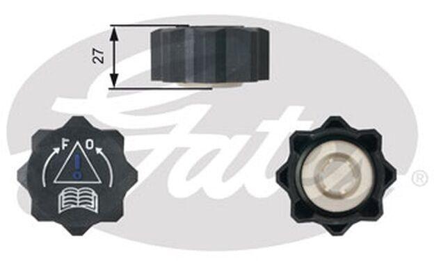 GATES Tapón, depósito de refrigerante CITROEN XSARA PEUGEOT 206 FIAT RC218