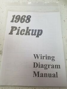 New 1968 Chevy Truck Wiring Diagram Manual *FREE SHIPPING ...