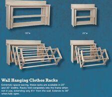 "DRYING RACK WALL UNIT Amish Handmade Folding 20"" Dowel Maple Laundry Hanger USA"