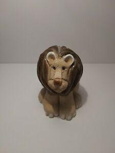 Vintage Hand Craved Artesania Rinconada Lion King Of The Jungle. Made In Uruguay