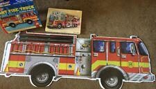 FIRE TRUCK, ENGINE SOUND PUZZLE matching and giant puzzles Melissa and & Doug 2