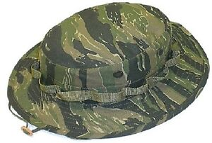 8df9679dc8b Military Tactical Dark Tiger Stripe Camo Boonie Hat US Made Gov t ...