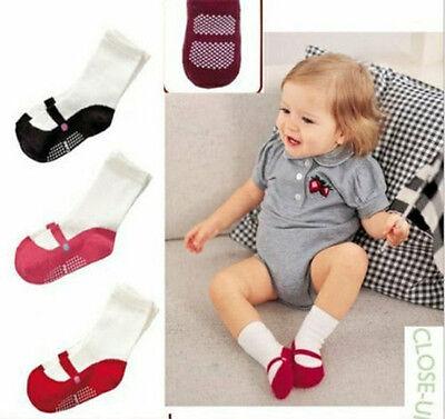 Lovely Baby Ballet Shoes Rubber Slip-resistant Floor Sock Antislip Slipper Socks