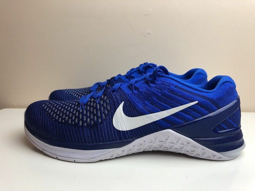 Nike mens metcon DSX flyknit zapatos deep royal azul blancoo 852930 402 msrp