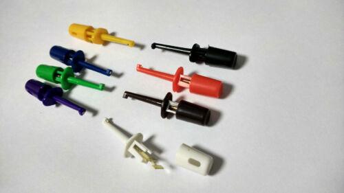 80pcs Mini Plastique Multimeter Lead Wire Kit Test Hook Clip Connecteur