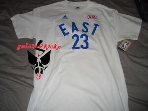 uk availability 65bbb 5cb61 2016 ADIDAS NBA ALL STAR east lebron james jersey player tee ...