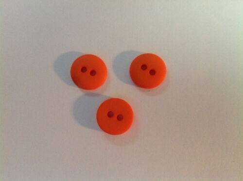NEW 25PC BAG 5//8 INCH FALL ORANGE  DULL//MATTE FINISH BUTTONS