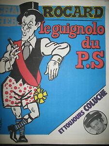 CHARLIE-HEBDO-N-490-ROCARD-GUIGNOLO-DESSINS-SATIRIQUES-COUV-PAR-CABU-1980