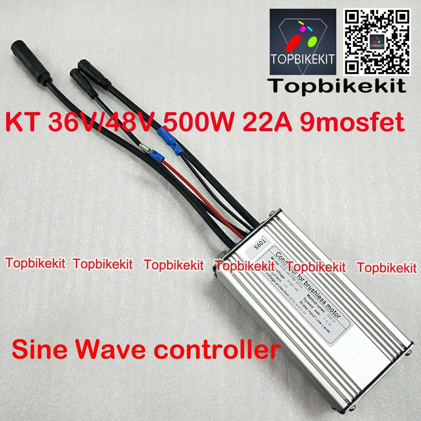 KT controlador 36V 500W  48V 500W Sine Wave controlador julei Impermeable 9 Mosfet  servicio considerado