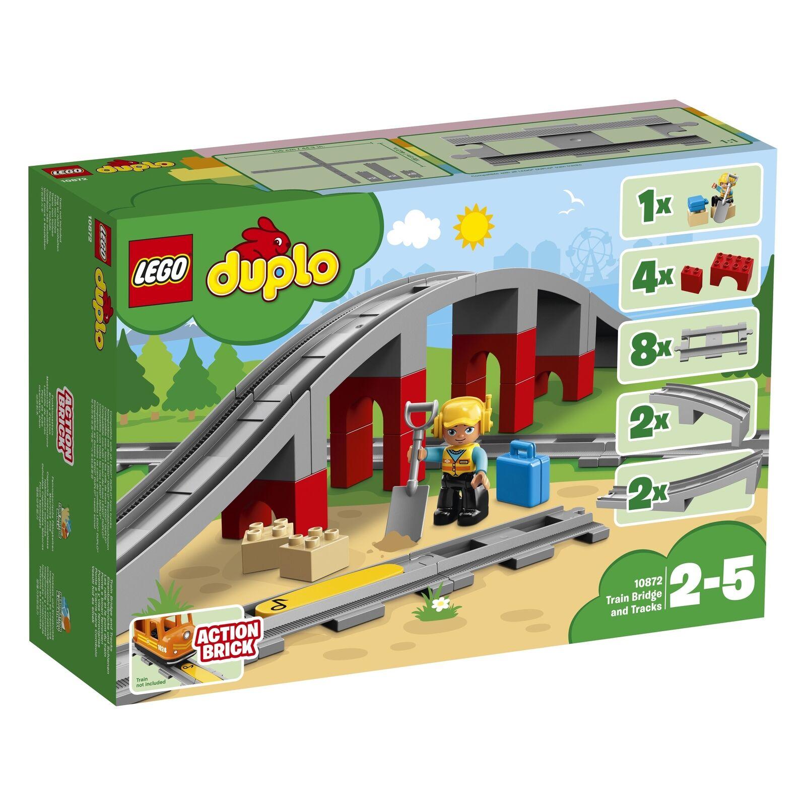 Lego Duplo 10872 Puente Del Ferrocarril Ferrocarril Ferrocarril y Raíles Nuevo Caja Orig.  ventas en línea de venta