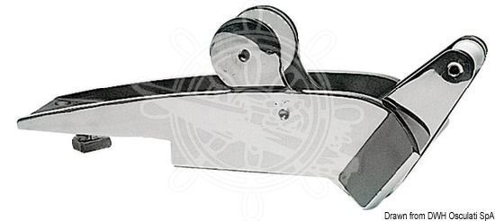 Osculati VA-Stahl Bugrolle mit Wippe bis bis bis 12 kg d254e1